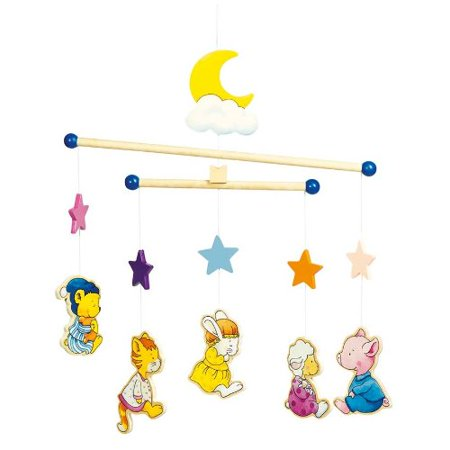 Sleep Mobile (Pyjama Animals Wooden Ceiling)