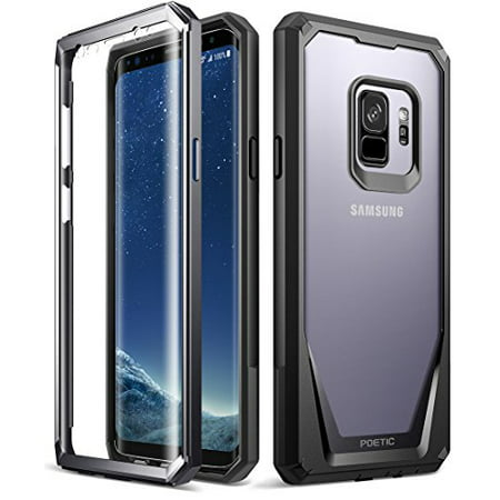 Poetic Guardian [Scratch Resistant Back] [360 Degree Protection]Full-Body Rugged Clear Hybrid Bumper Case with Built-in-Screen Protector for Samsung Galaxy S9 - 360 Hybrid