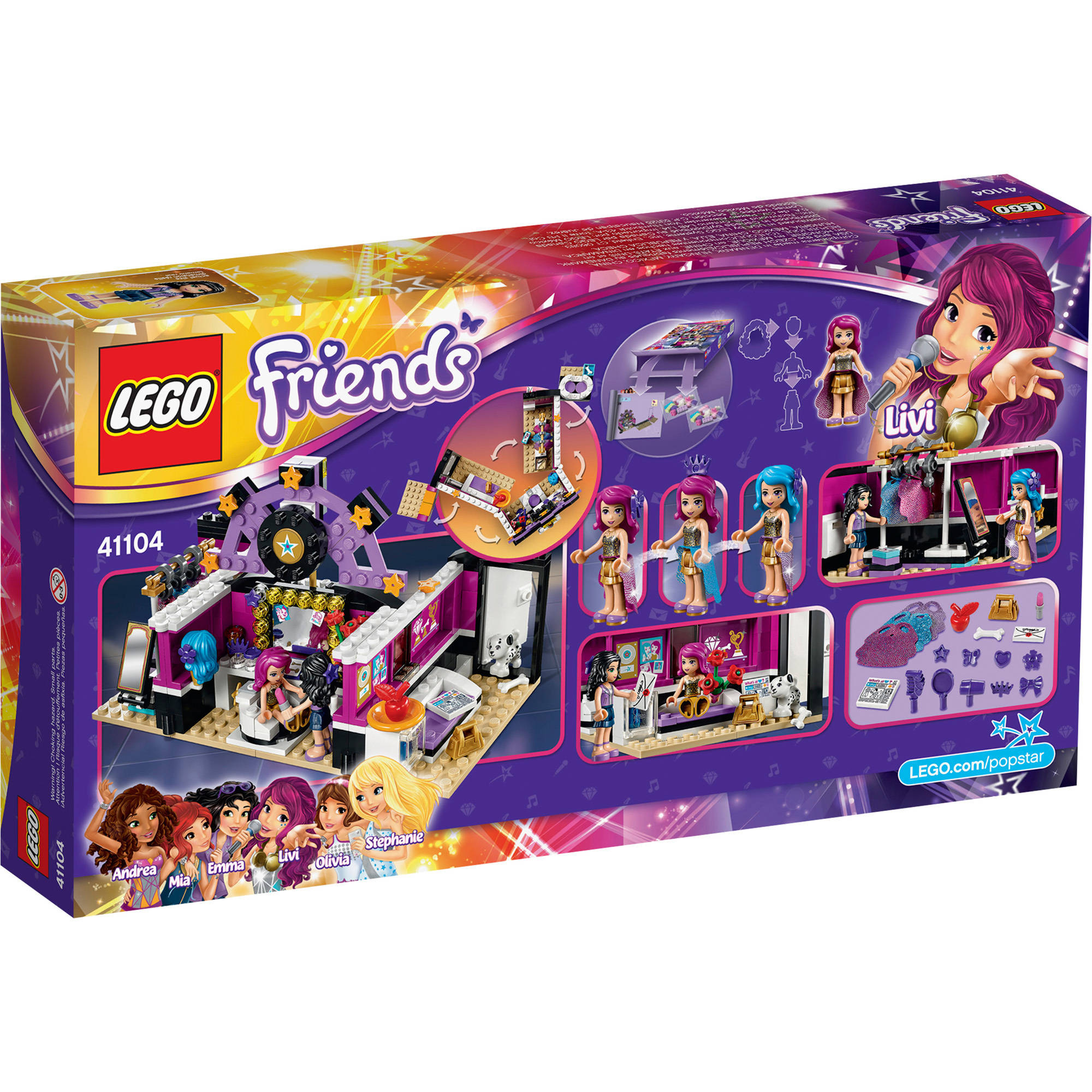 Lego Friends 41104 Pop Star Dressing Room Building Kit Walmartcom