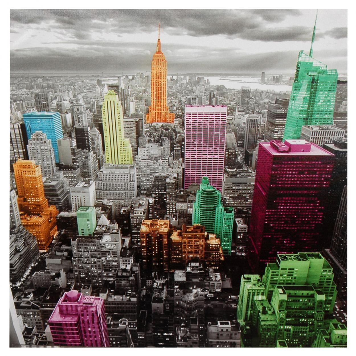 High-Lights of New York Skyline Canvas Wall Artwork by Oriental Furniture