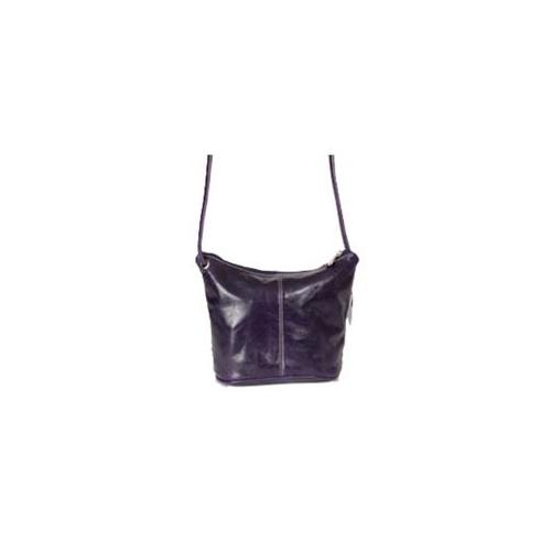 David King & Co 3524P Florentine Mid Size Hobo Bag - Purple