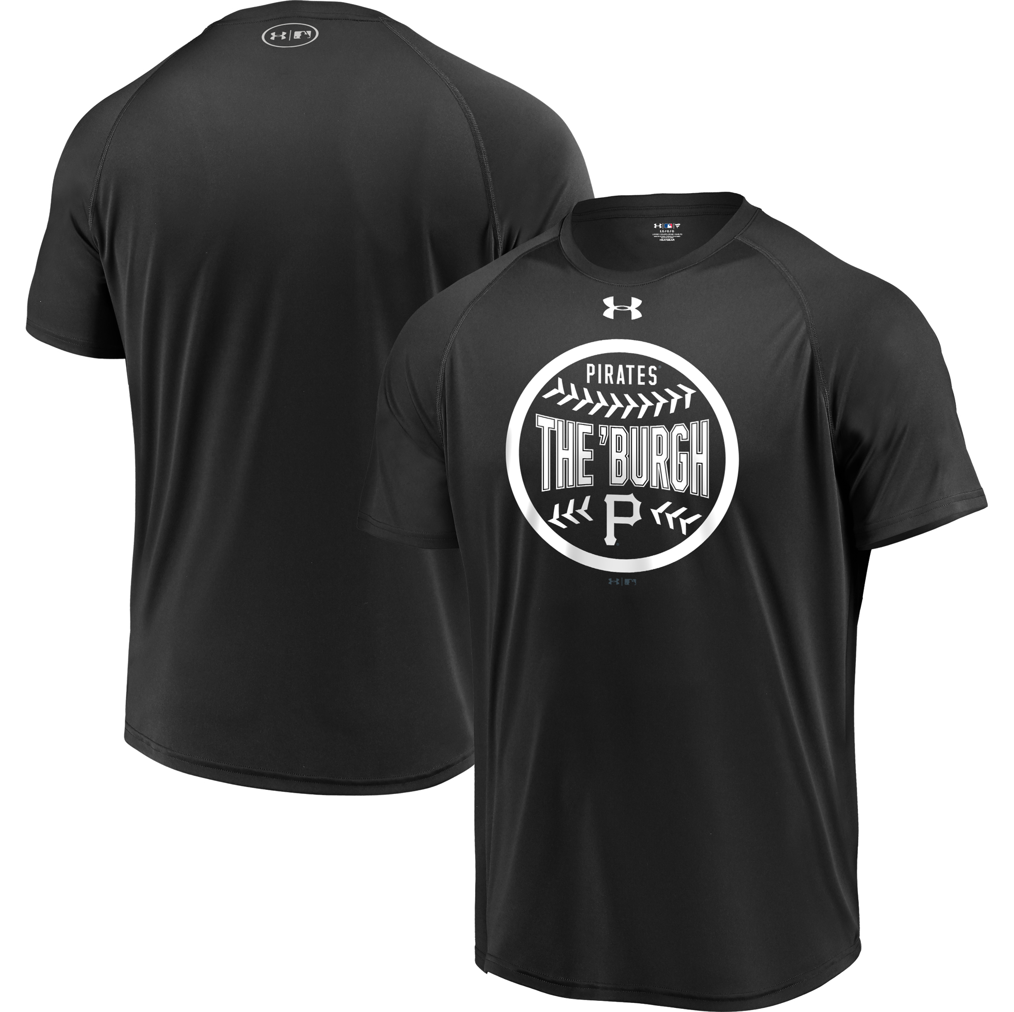 Pittsburgh Pirates Under Armour Intensity Ball Performance T-Shirt - Black