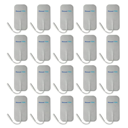 Pre Wired Electrodes (TENS Electrodes - Value Wired 2x4 Replacement Pads for TENS Units - 20 TENS Unit Electrodes - 2