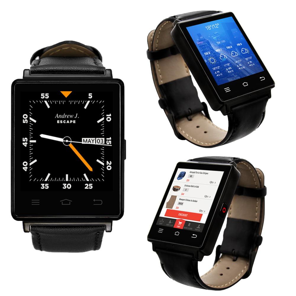 Indigi® Sleek Android 5.1 3G Unlocked AT TMobile SmartWatch Phone + WiFi + GPS + Heart