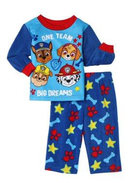 Paw Patrol Baby Toddler Boy Long Sleeve Fleece Pajamas, 2pc Set