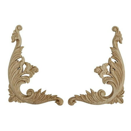 American Pro Decor 5APD10417 Large Carved Wood Scroll