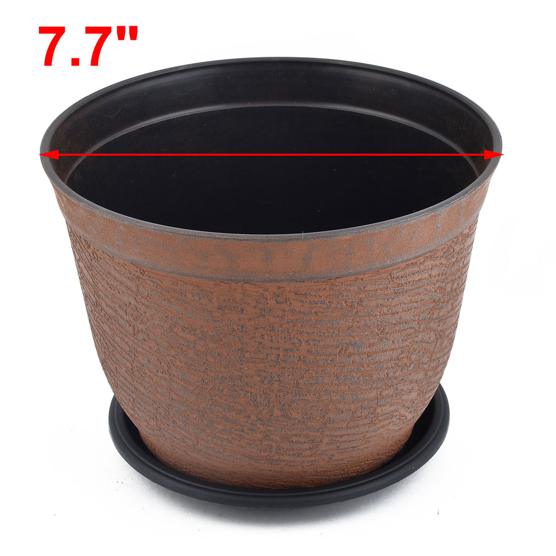 Apartment Plastic Round Retro Style Flower Planting Pot Holder Container 5pcs - image 1 of 4