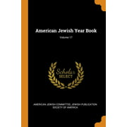American Jewish Year Book; Volume 17 Paperback