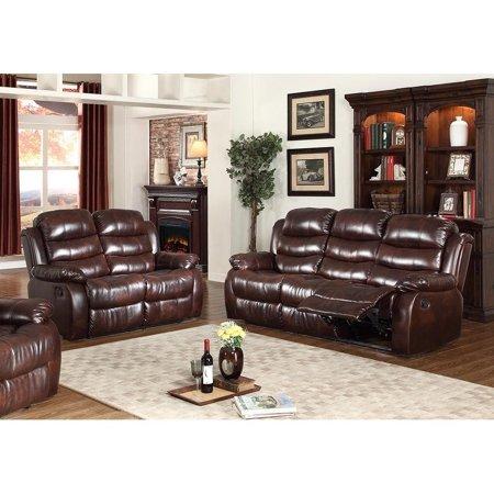 GTU Furniture Contemporary Transitional, Plush Faux Leather ...