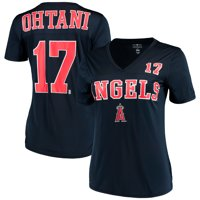 Shohei Ohtani Los Angeles Angels New Era Women's Name & Number T-Shirt - Navy