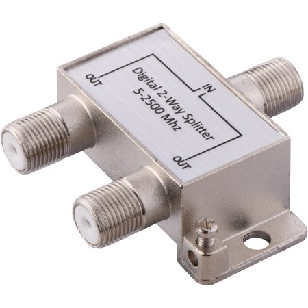 - Onn Digital Coaxial 2-Way Cable Splitter