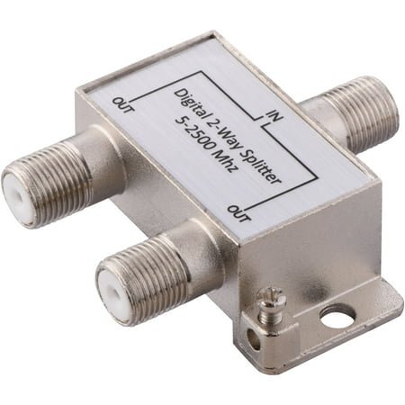 Utp Cable Splitter - Onn Digital Coaxial 2-Way Cable Splitter