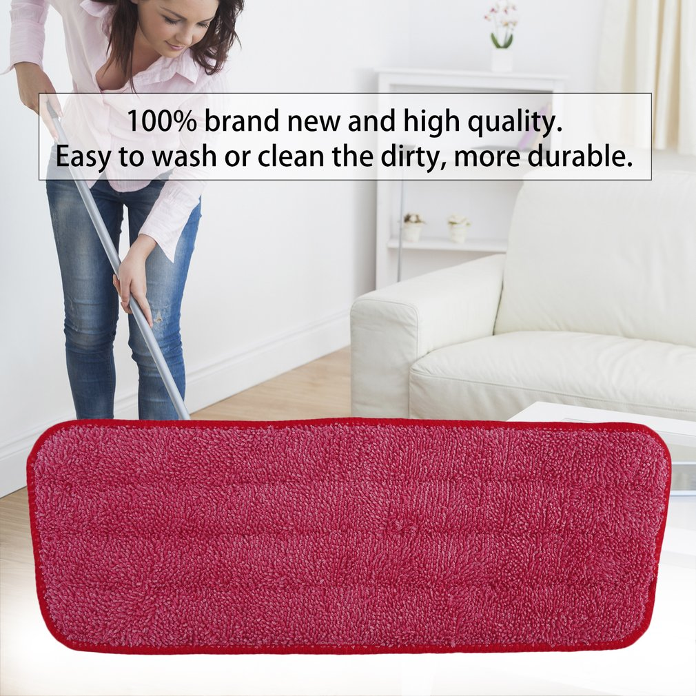 Replacement Microfiber Washable Mophead Wet And Dry Cleaning Mop Pads Fit Flat Spray Mops Household Cleaning Tools