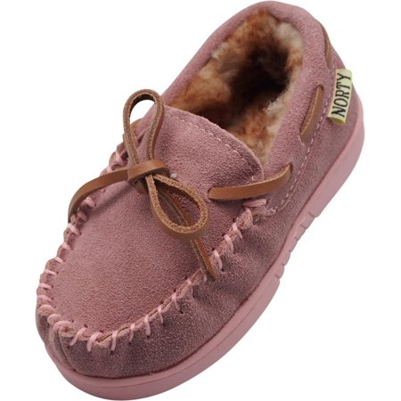 a8d81d6c1b39 NORTY - NORTY Little and Big Kids Boys Girls Unisex Suede Leather Moccasin  Slip On Slippers