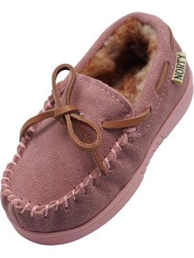 e55fbeb1cf2 Product Image NORTY Little and Big Kids Boys Girls Unisex Suede Leather  Moccasin Slip On Slippers
