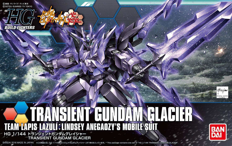 Bandai Hobby Build Fighters Transient Gundam Glacier HG 1 144 Model Kit by Bandai Hobby