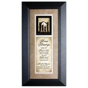 The James Lawrence Company 'House Blessings' Framed Textual Art