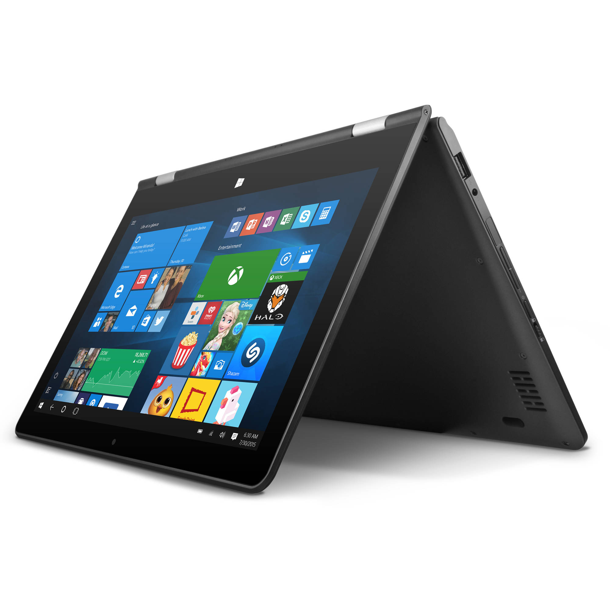 "Ematic 11.6"" Laptop, Touchscreen, 2-in-1, Windows 10, Intel Atom Quad-Core Processor, 2GB RAM, 32GB Flash Storage"
