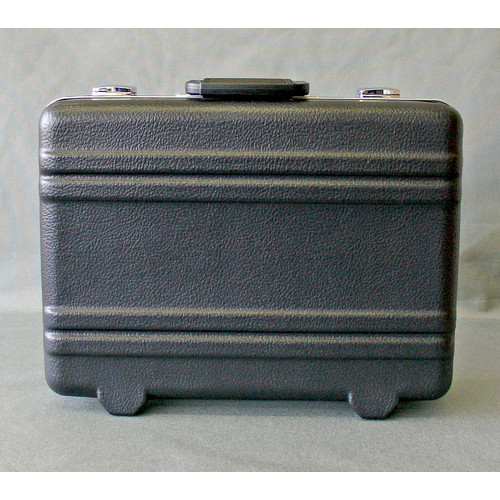 Platt Heavy-Duty Polyethylene Case with Parallel Rib Pattern without Foam in Black: 12.5 x 17.25 x 6