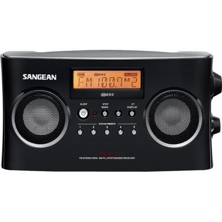 Sangean All in One Compact Portable Digital AM/FM Radio with Built-in Stereo Speaker, Earphone Jack, Alarm Clock Plus 6ft Aux Cable to Connect Any Ipod, Iphone or Mp3 Digital Audio (Fm Radio App For Iphone Without Internet)