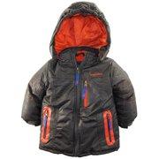 Rugged Bear Baby Boys Snow Puffer Hooded Winter Jacket