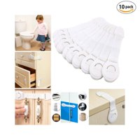 Gonex Baby Safety Cabinet Locks Child Proof Cabinet Locks No Tools and Screws Required Authentic 3M Adhesive White 10-pack
