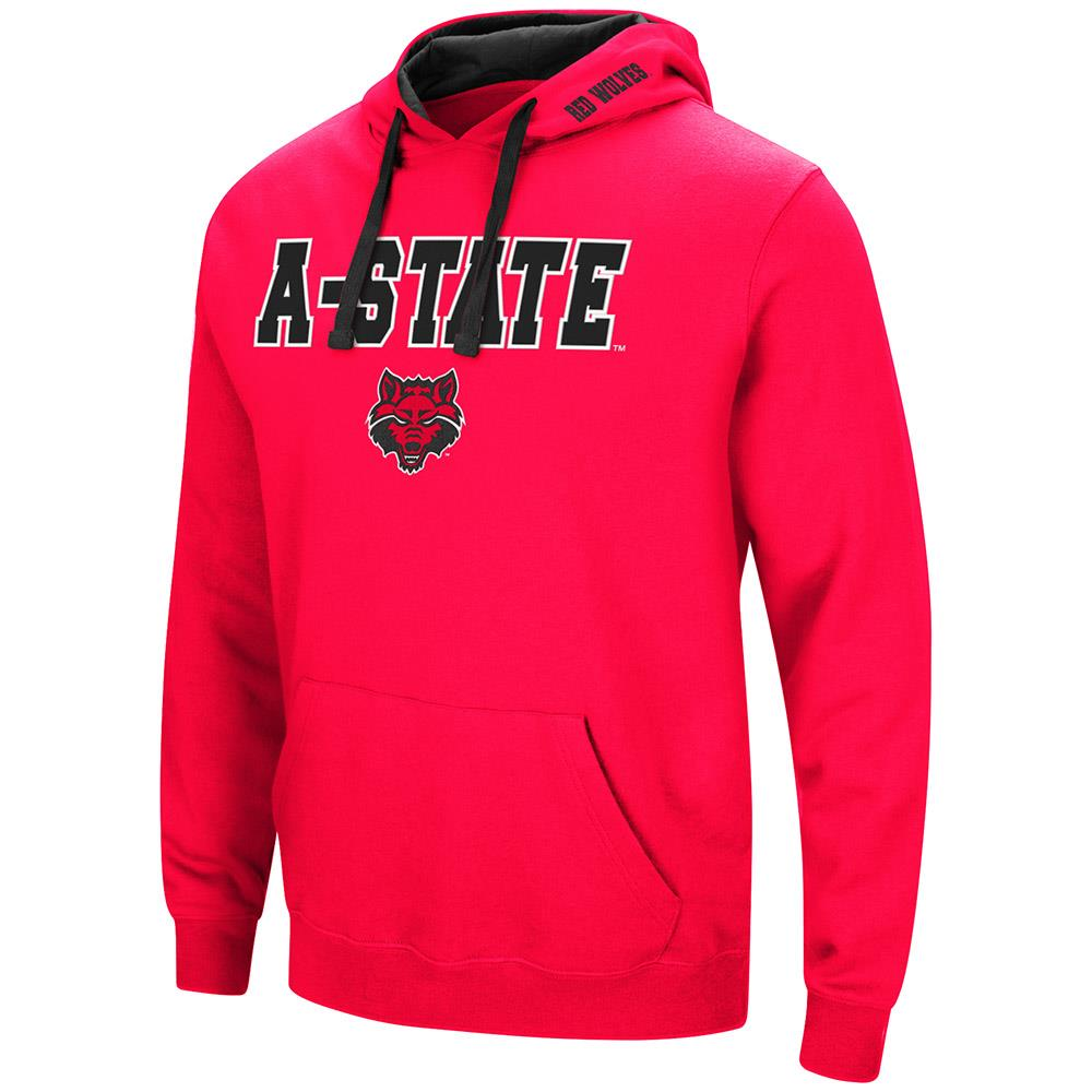 Mens Arkansas State Red Wolves Pull-over Hoodie XL by Colosseum