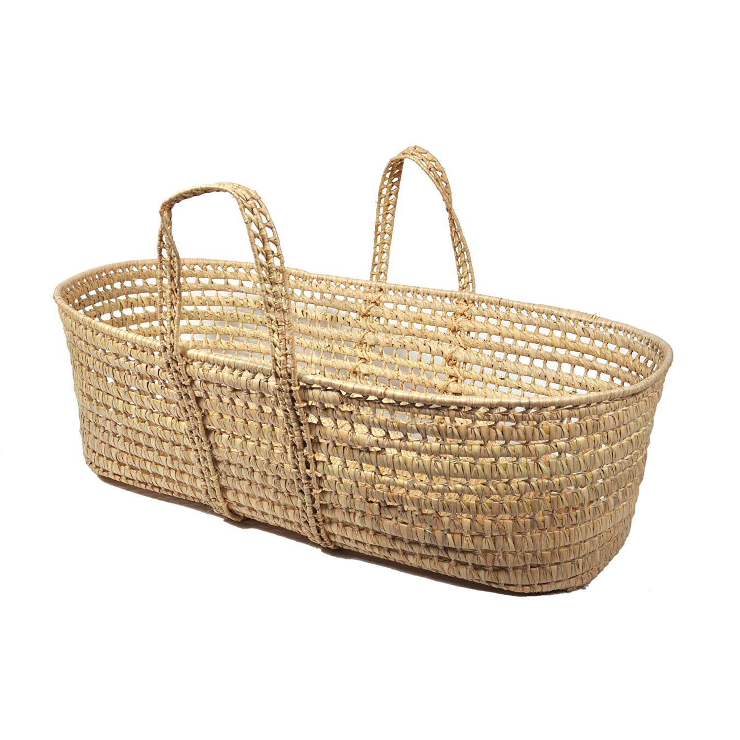 All Natural Organic Moses Basket, Natural palm leaves: Made of natural, hand-woven palm leaf By Tadpoles