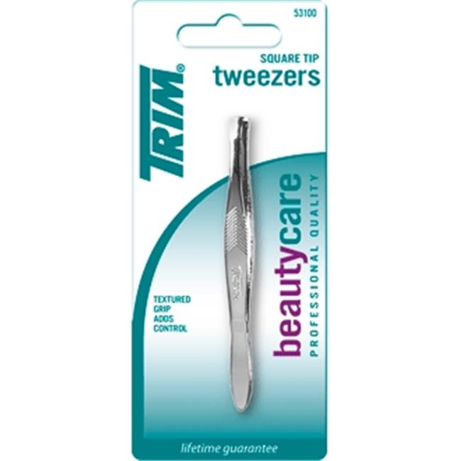 Bassett Brands WEB-53100-6 Trim Square Tip Tweezer Case Of 6 by Bassett Brands