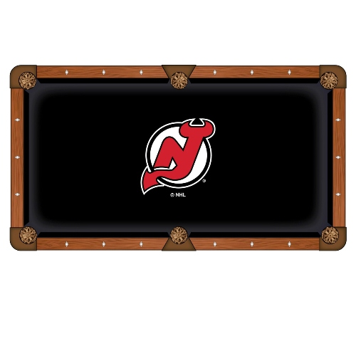 NHL 8' Pool Table Cloth by Holland Bar Stool - New Jersey...