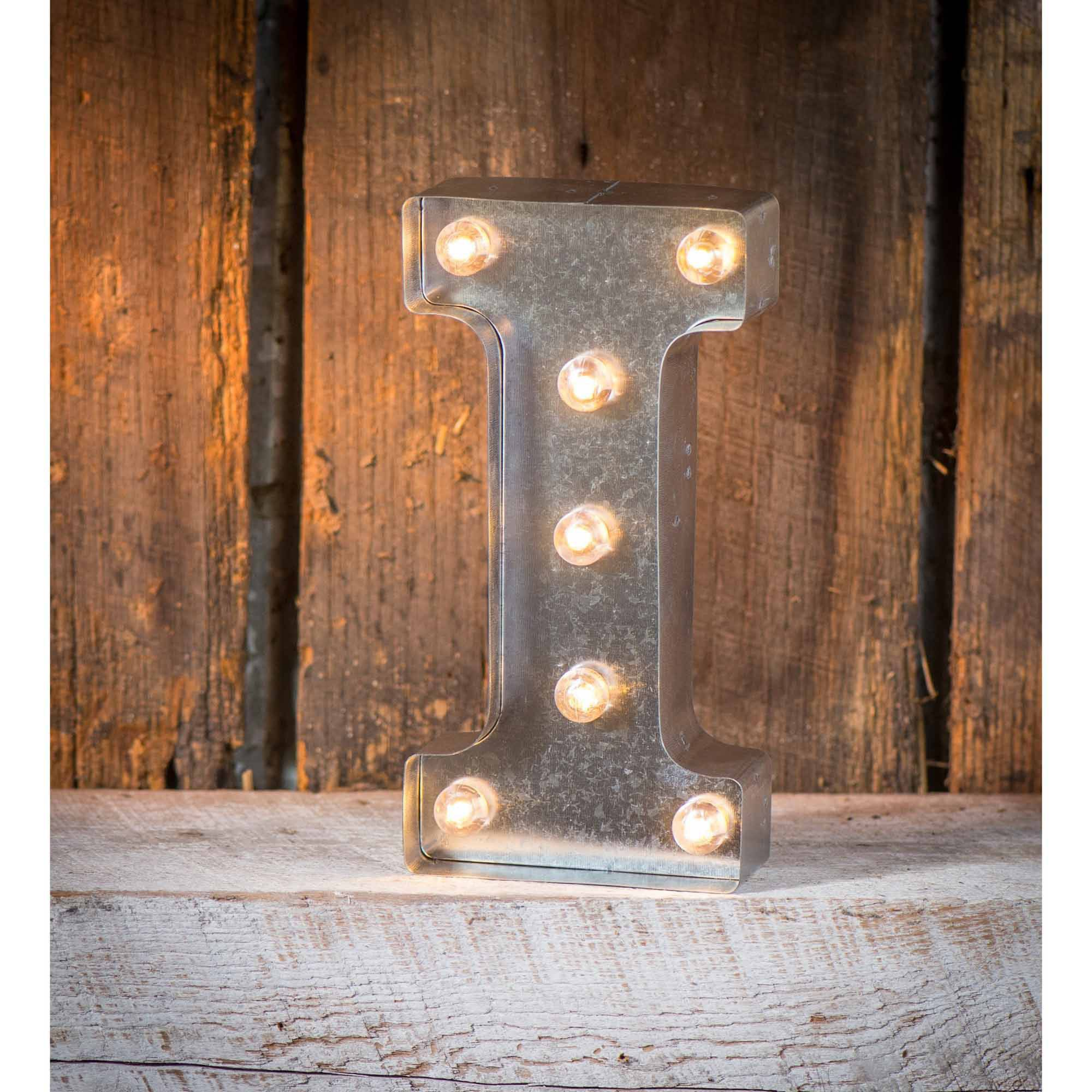 Light-Up Marquee Letter I