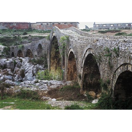 Mes Bridge over Kiri River, Near Shkoder, Albania, 18th Century Print Wall Art - Family Halloween Events Near Me
