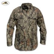 Natural Gear 7-Button Bush Shirt (S)- Nat Camo