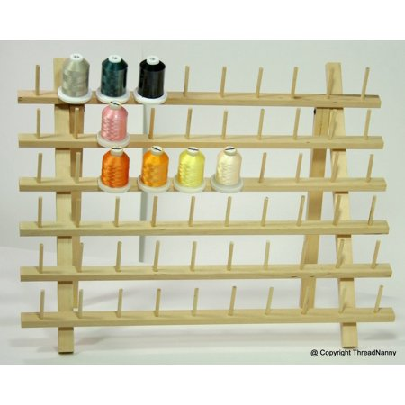 Robison Anton Embroidery Thread - Set of 2 WideBase 60 Spool Thread Racks for Sewing - Quilting - Embroidery Spools with WIDE BASE for Robison Anton / Floriani and other Mini King Cones from ThreadNanny