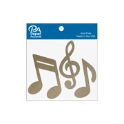 Chip Shape 8pc Music Notes Natural