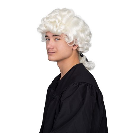 Colonial Boy Costume Accessory White Deluxe Wig - Places To Buy Wigs Near Me