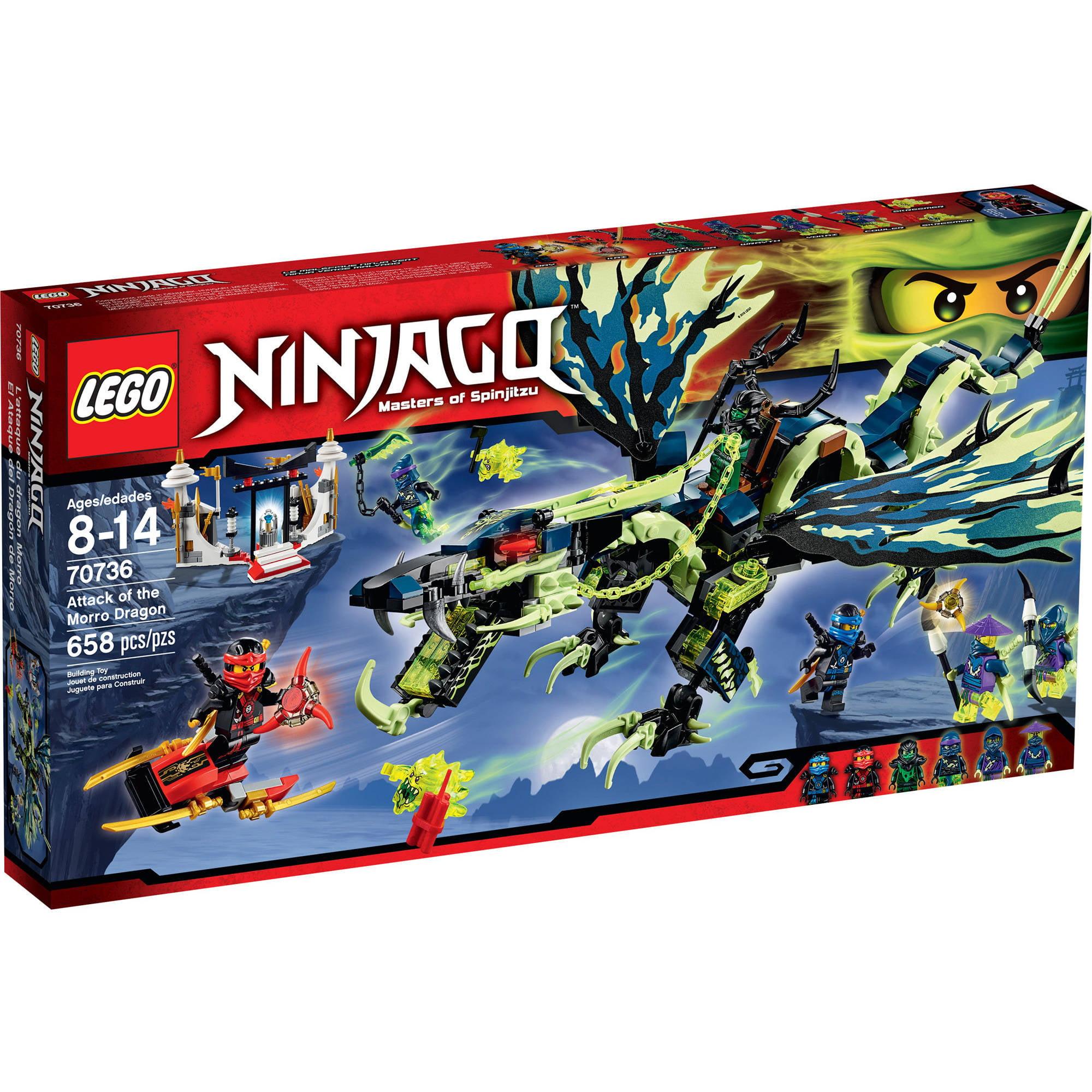 lego ninjago attack of the morro dragon 70736  walmart