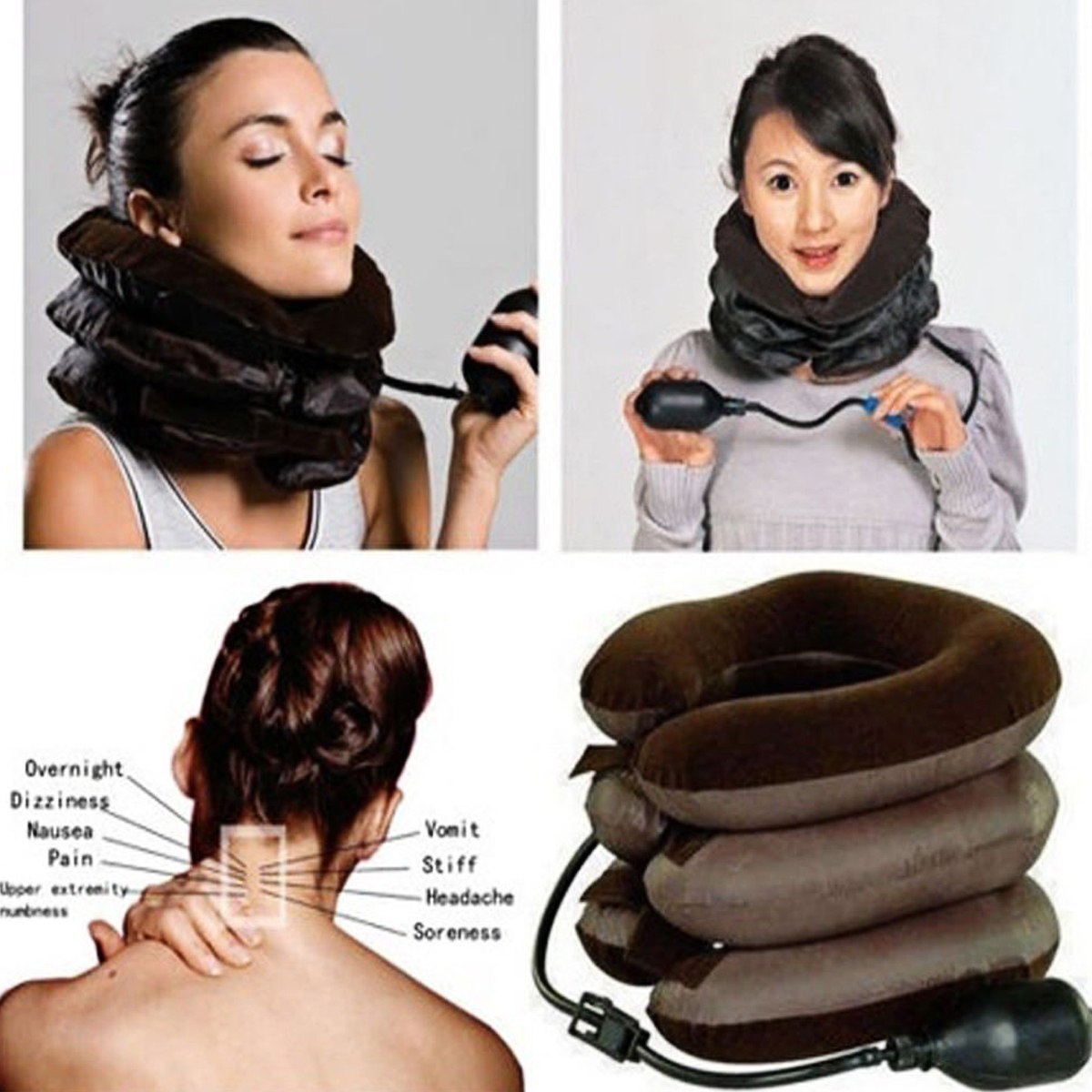 Neck Massager Neck Brace Support Cervical Collar Air Traction Fatigue Reliever Therapy Device