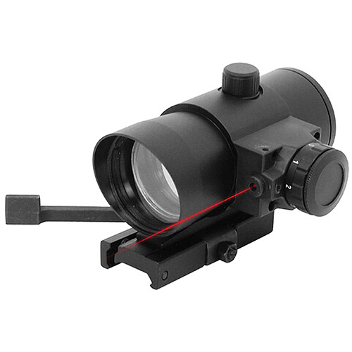 NcStar DLB140R Red Dot Sight 1x40 with Built-In Red Laser Quick Release