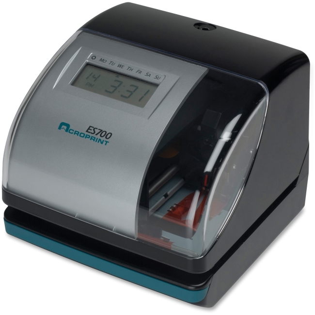 Acroprint ES700 Multi-function Side Printing Time Recorder - Card Punch/Stamp
