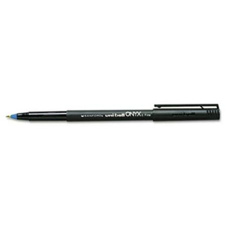 Sanford Ink Company 60145 Onyx Roller Ball Stick Dye-Based Pen, Blue Ink, Fine, Dozen
