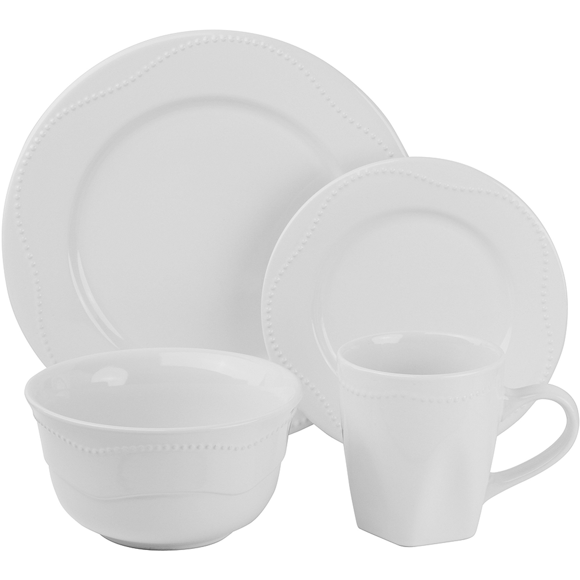 10 Strawberry Street Nova Beaded Round 16-Piece Dinnerware Set  sc 1 st  Walmart & 10 Strawberry Street Nova Beaded Round 16-Piece Dinnerware Set ...