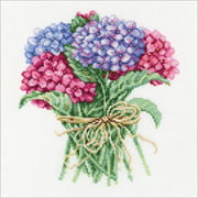 "RTO Counted Cross Stitch Kit 8""X8.25""-Hydrangea Bouquet (14 Count)"