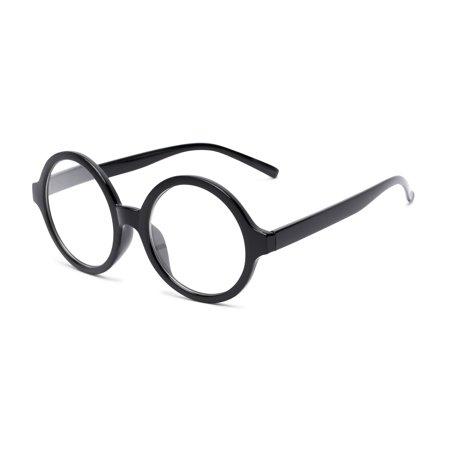 Readers.com | The Architect Round Stylish Mens & Womens Full Frame Reading Glasses Black 2.0 (Architect Round Glasses)