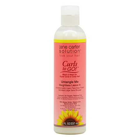 Jane Carter Curls To Go Untangle Me Weightless Leave In 8Oz  237Ml