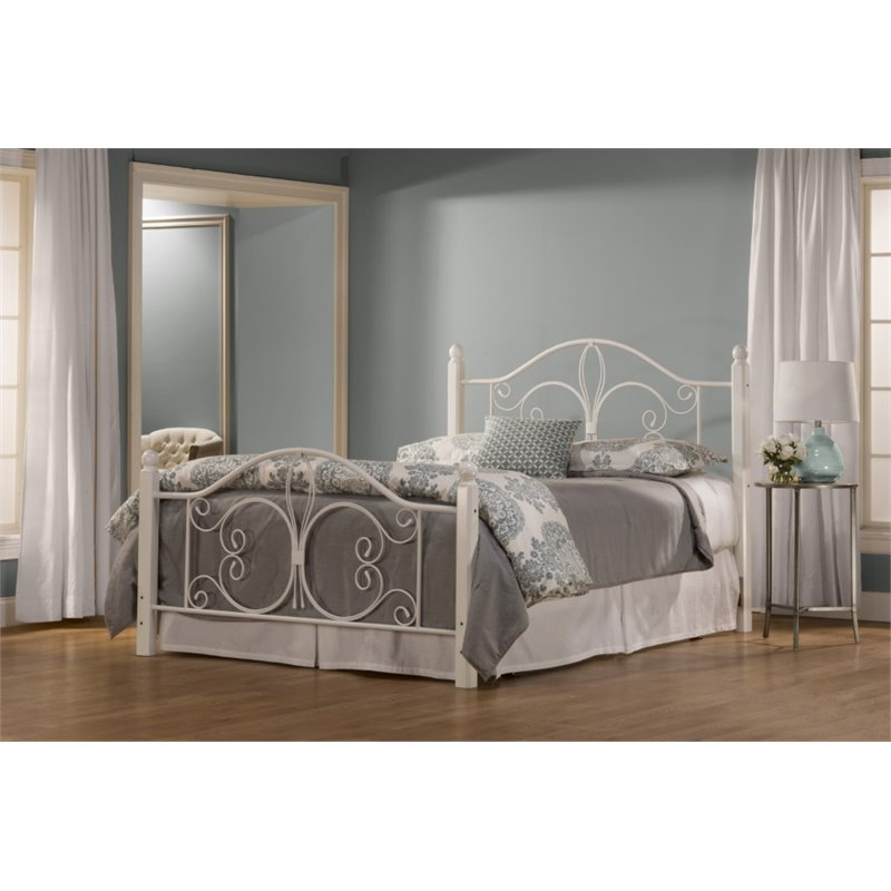 Hillsdale Ruby Queen Poster Bed in Textured White by Hillsdale