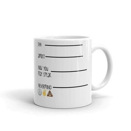 Funny Humor Novelty Time to Poop 11oz Ceramic Coffee Mug (Novelty Mug)