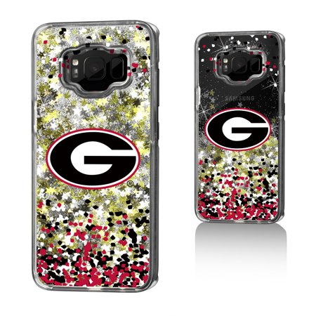 Georgia Bulldogs Cell Phone Cover - UGA Georgia Bulldogs Confetti Glitter Case for Galaxy S8