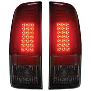 97-03 F150/99-07 Super Duty Straight-Style Side LED Tail Lights, Red Smoke Lens