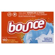 Bounce Fabric Softener Sheets, Fresh Linen, 160 Count